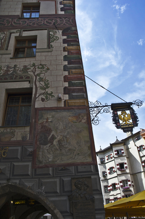 innsbruck: old palace in innsbruck downtown Editorial