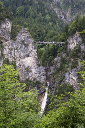 neuschwanstein: small bridge over the castle of neuschwanstein