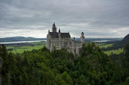 neuschwanstein: view of the castle of neuschwanstein in germany