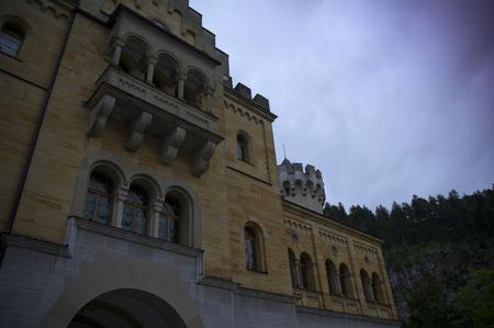 neuschwanstein: facade of the castle of neuschwanstein