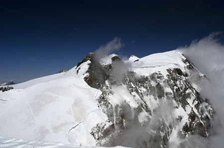 rosa: view of monte rosa from vincent pyramid