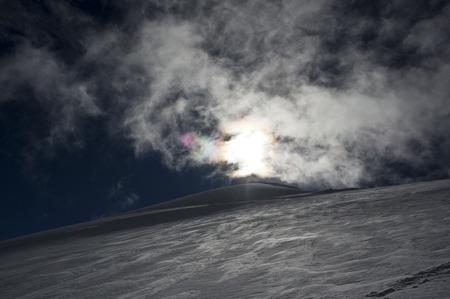 Saas Fee: climbing allalinhorn in swiss alps