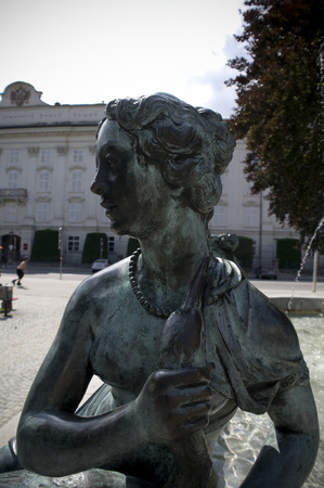 baroque: baroque statue in innsbruck downtown
