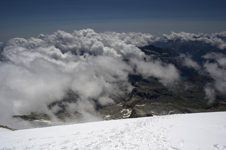 serac: landscape from vincent pyramid summit