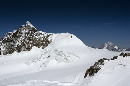 view of lyskamm peak on monte rosa