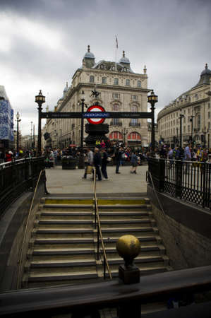eros: underground station in piccadilly circus in london