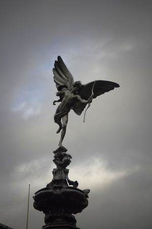angels fountain: little eros on the fountain of piccadilly circus