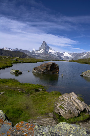 matterhorn: view of matterhorn and a small lake