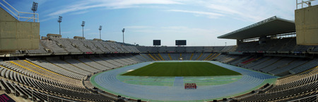 montjuic: olympic stadium of montjuic in barcelona