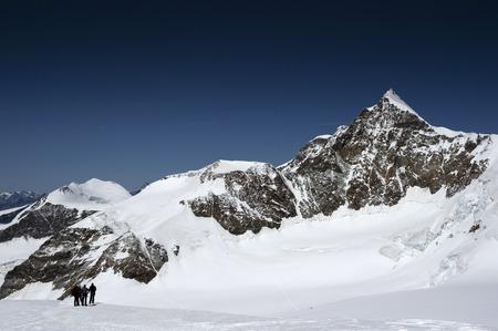 view of lyskamm peak on monte rosa