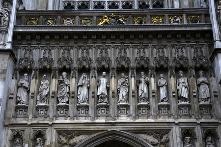 detail of the facade of westminster abbey