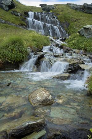 waterfall in palasinaz mountains