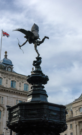 eros fountain in piccadilly circus in london