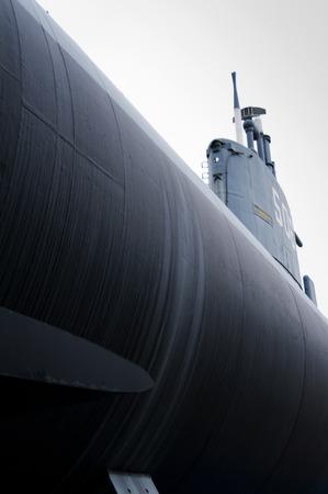 submarine enrico toti in a museum of milan