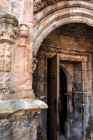 ロスリン礼拝堂の扉 写真素材