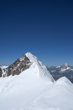 view of lyskamm on monte rosa Stock Photo
