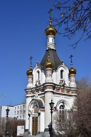 in Yekaterinburg, in the city center, the chapel of St. Catherine the Great Martyr.