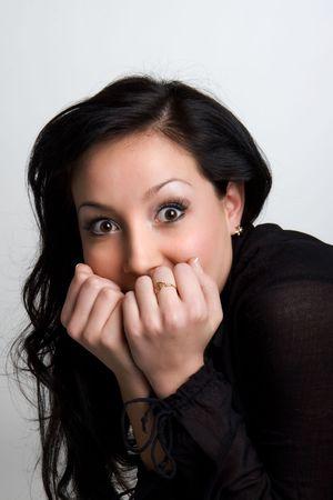 shocked girl photo