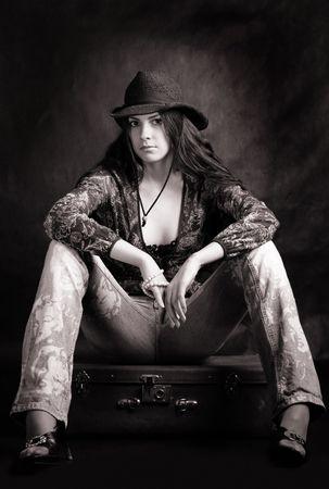 cowboy girl Stock Photo - 2827196
