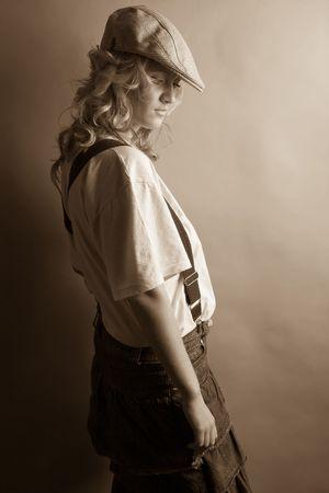 retro portrait Stock Photo - 3408700