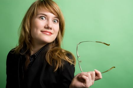 amasing: Surprised businesswoman
