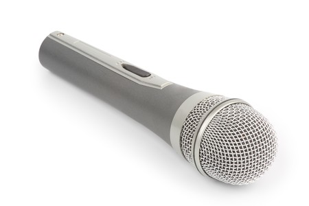 Microphone isolated over white background  photo