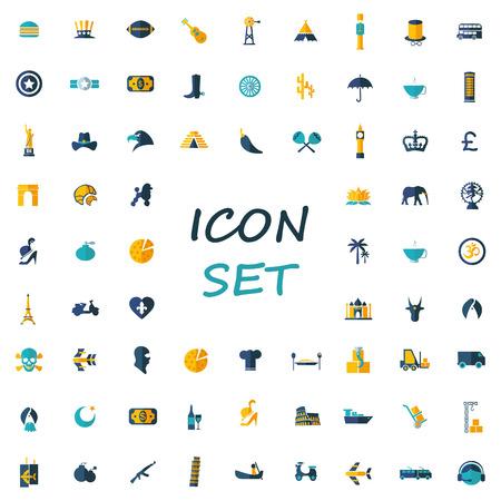 popular: popular set of flat icons
