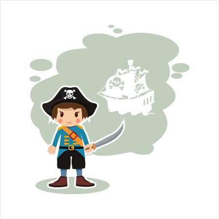 swashbuckler: flat boy sailor - pirate