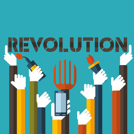 The technological revolution or the overthrow of a dictator.Only you can decide.