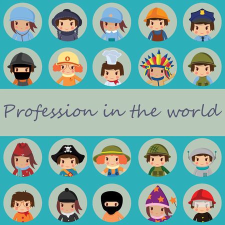 professions: the flat icons  world of professions