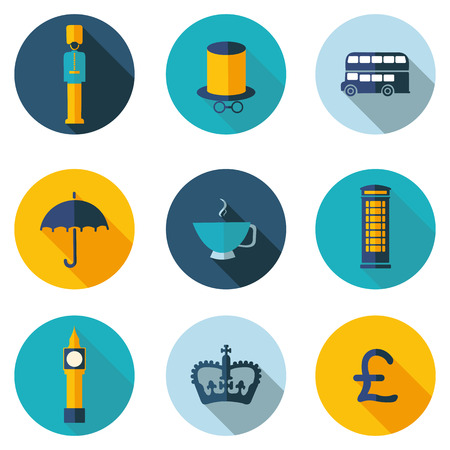 stereotypes: UK best flat icons