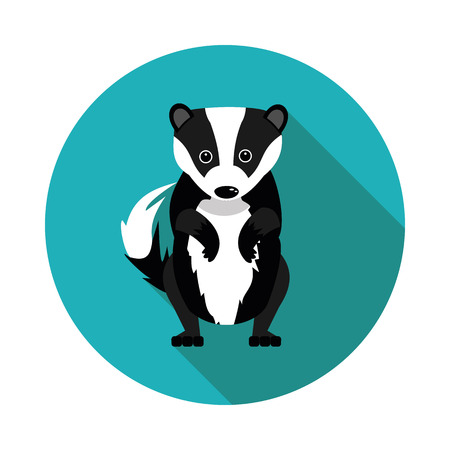 badger: best flat  icons badger in vector format