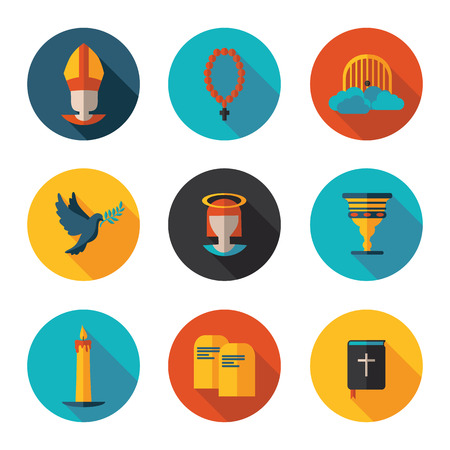 catholicism: Christianity best flat  icons in vector format