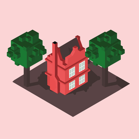 private: private house isometric