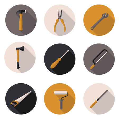clamps: best flat icon tools in vector format Illustration