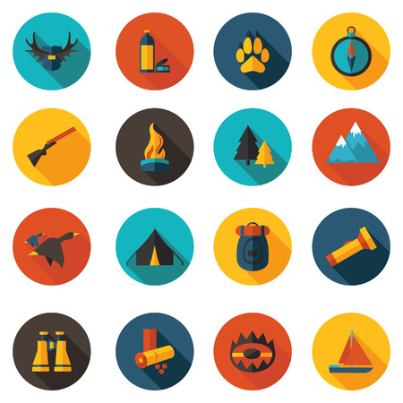 duck hunting: best flat hunting icons in vector format