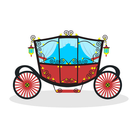 super best flat carriage Illustration