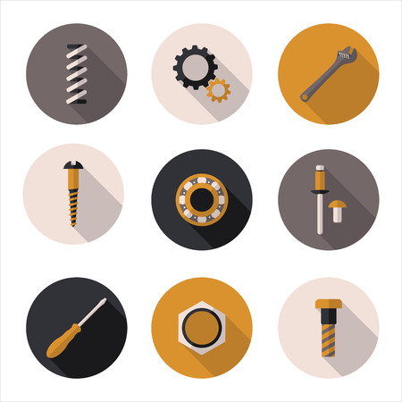 screws: best flat icons fasteners