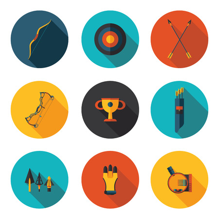 archery: flat icons archery  Illustration