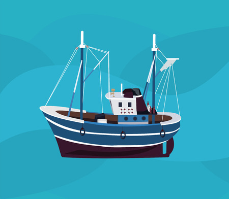 fishing boats: fishing boat in the sea
