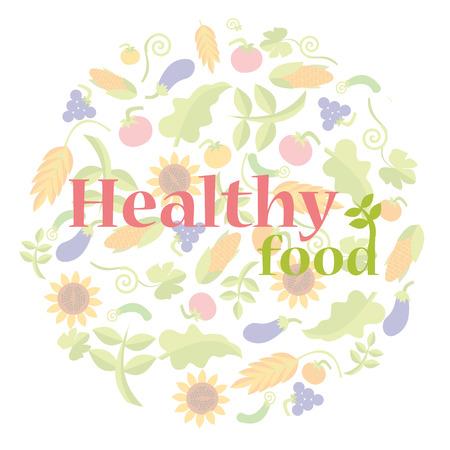 food: healthy food  Illustration