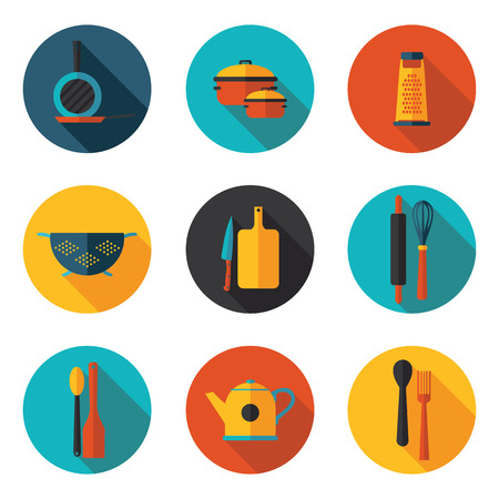 kitchen appliances: kitchen appliances flat icons