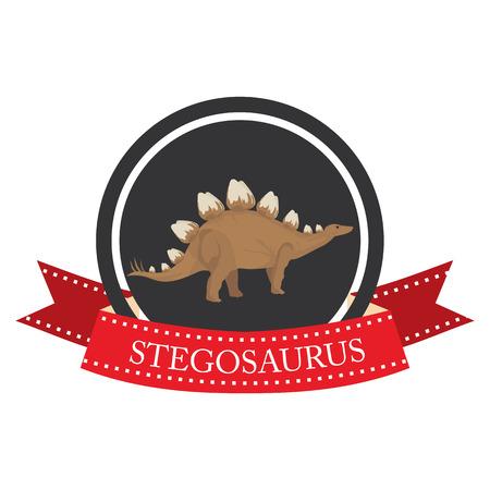stegosaurus: icono plana stegosaurus