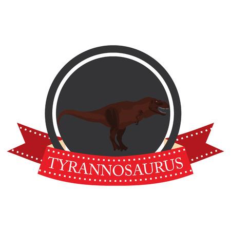 tyrannosaurus: flat icon dinosaur Tyrannosaurus in vector format Illustration