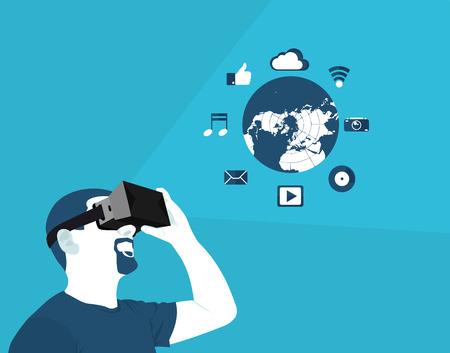 realidade virtual plana