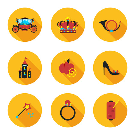 cinderella shoes: best flat icons Cinderella in vector format