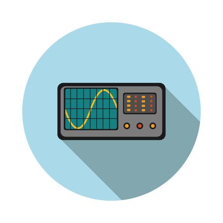 oscilloscope: flat icon oscilloscope in vector format