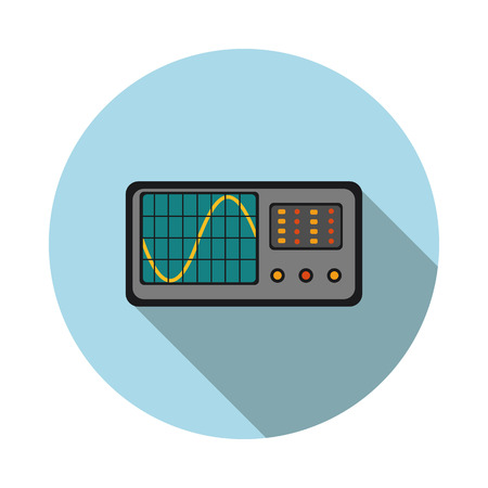 flat icon oscilloscope in vector format