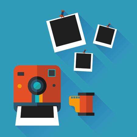 illustration of an instant photo in vector format Illustration