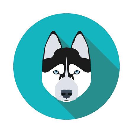 plana iconos perro husky en formato vectorial